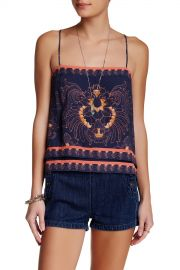 Scarf Print Sleeveless Top at Nordstrom Rack