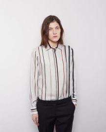 Scarf print silk shirt by Maison Margiela at La Garconne