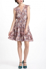 Scarletts pink paisley dress at Anthropologie at Anthropologie