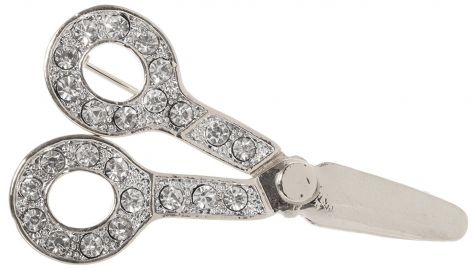Scissors Hairdresser Gift Brooch Pin 1 8 quot  with Exquisite Detail and Geniune Crystal Accents at Amazon