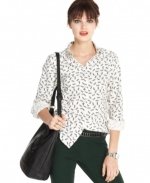 Scissors print shirt by Maison Jules at Macys