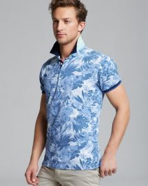 Scotch andamp Soda Floral Print Pique Polo - Slim Fit at Bloomingdales