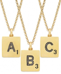 Scrabble letter necklace at Macys