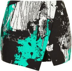 Scratch print skort at Topshop