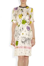 Scratchy Cat Printed Dress by Marni at The Outnet