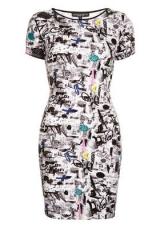 Scribble News Mini Dress at Topshop