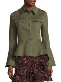 Scripted - Military Peplum Jacket at Saks Fifth Avenue