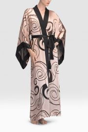 Scroll Burnout Robe at Natori