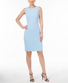 Scuba Crepe Sheath Dress by Calvin Klein at Macys