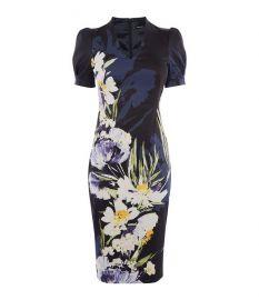 Sculpting Floral Pencil Dress at Karen Millen