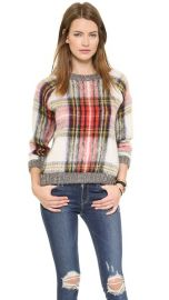 Sea Oversized Plaid Pullover at Shopbop