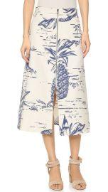 Sea Pineapple Zip Skirt at Shopbop