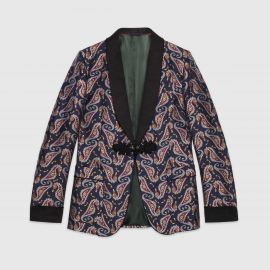 Seahorse Jacquard Evening Jacket by Gucci at Gucci