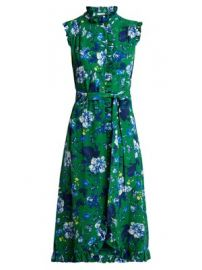 Sebla floral-print crepe dress at Matches