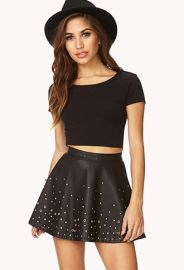 Secret Rebel Grommet Skater Skirt  Forever 21 - 2000112080 at Forever 21