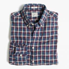 Secret Wash shirt in heather poplin plaid at J. Crew