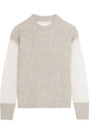 See by Chlo     Knitted and embroidered tulle sweater at Net A Porter