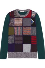See by Chlo     Patchwork knitted sweater at Net A Porter