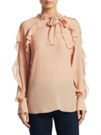 See by Chlo   - Tie Neck Ruffle Blouse at Saks Fifth Avenue