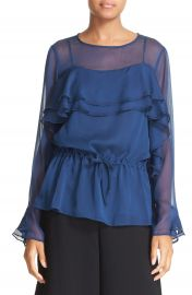 See by Chlo   Ruffle Georgette Top at Nordstrom