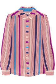 See by Chlo  Printed silk crepe de chine shirt at Net A Porter