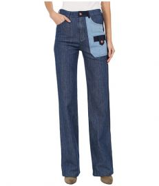 See by Chloe Denim Patch Trousers at 6pmcom at 6pm