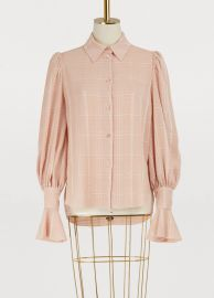 See by Chloe Fluid Checks Top at 24 Sevres