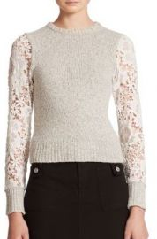 See by Chloe Lace Knit Sweater at Saks Fifth Avenue