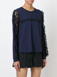 See by Chloe Lace Sleeve Top at Elizabeth & Charles