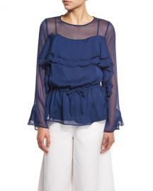 See by chloe Chiffon ruffle blouse at Neiman Marcus