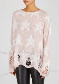 Seeing Stars Distressed Open-Knit Jumper by WildFox at Harvey Nichols