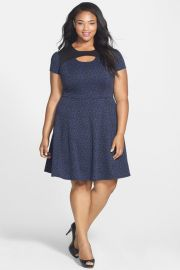 Sejour Leopard Keyhole Dress at Nordstrom Rack