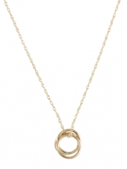 Selena Gold Circle Necklace  at Peggy Li