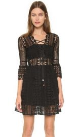 Self Portrait A Line Lace Up Dress at Shopbop