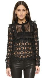 Self Portrait Balloon Sleeve Lace Top at Shopbop