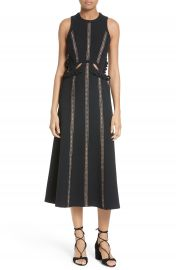 Self-Portrait Cutout Midi Dress at Nordstrom