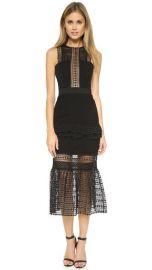 Self Portrait Frilled Column Dress at Shopbop