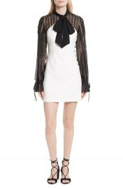 Self-Portrait Lace Sleeve Minidress at Nordstrom