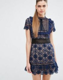 Self Portrait Louisa Guipure Dress at asos com at Asos