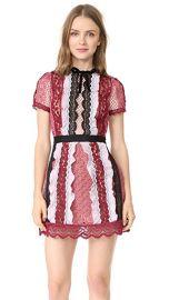 Self Portrait Panelled Bellis Lace Trim Mini Dress at Shopbop