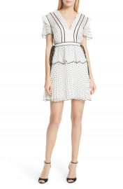 Self-Portrait Pleated Plumetis Dress at Nordstrom