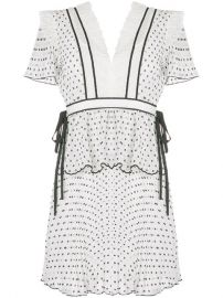 Self-Portrait Printed Pleated Dress at Farfetch