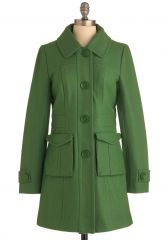 Senior Copy Writer Coat in Grass at ModCloth