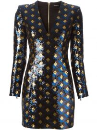 Sequin Dress by Balmain at Farfetch