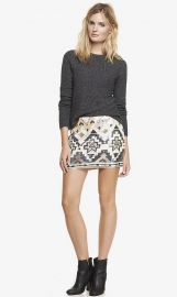 Sequin Embellished skirt at Express
