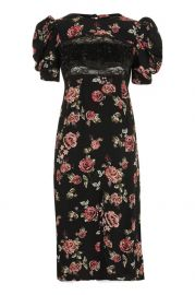 Sequin Floral Print Midi Shift Dress - Dresses - Clothing at Topshop