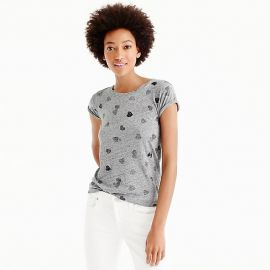 Sequin Heart T-shirt at J. Crew