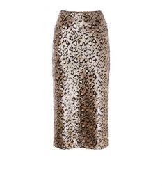 Sequin Leopard Midi Skirt by Karen Millen at Karen Millen