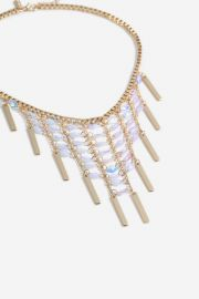 Sequin Stick Collar Necklace at Topshop