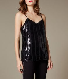Sequin Stripe Cami Top by Karen Millen at Karen Millen